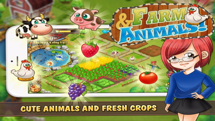 Farm and Animals : Harvesting under the blue moon screenshot-3