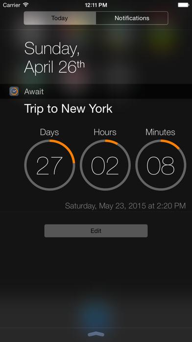 Await - Event Countdown screenshot two