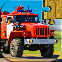 Cars, trucks and trains puzzles - Relaxing photo picture jigsaw puzzles for kids and adults