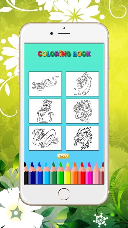 Coloring Book Dragon HD screenshot-4
