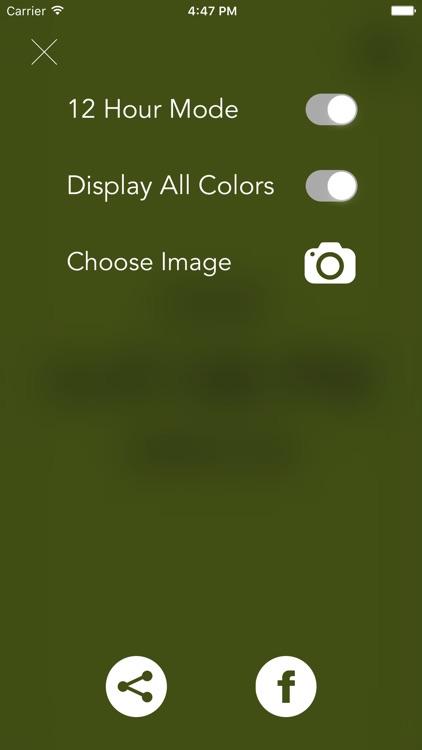Clockor- Colored Clock