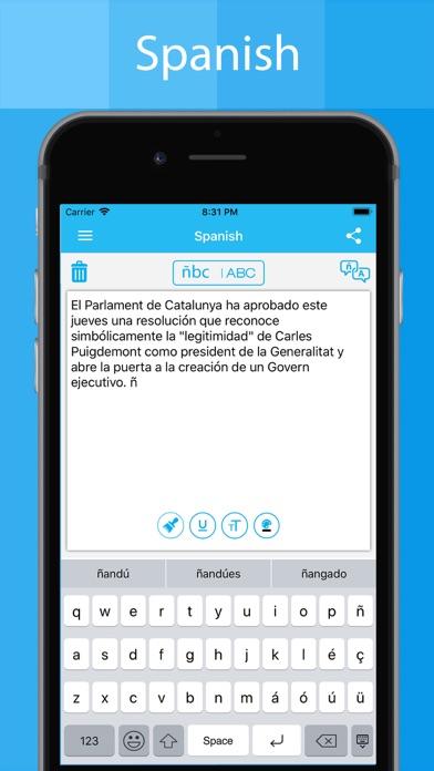 Spanish Keyboard - Translator screenshot two