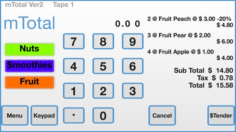 mTotal POS | Cash Register