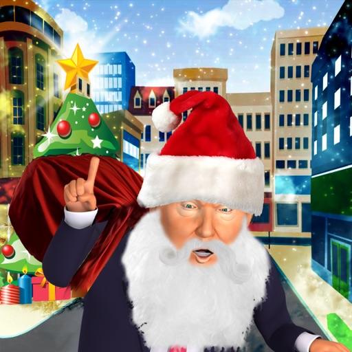 Christmas Santa Trump Run - Best Xmas Fun Games