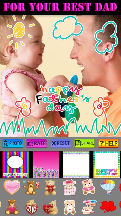 Father's Day Frame and Sticker screenshot-4