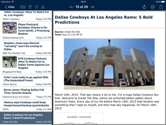 Football News - Dallas Cowboys on the App Store