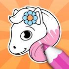 Ausmalbilder Pferde: Malbuch icon