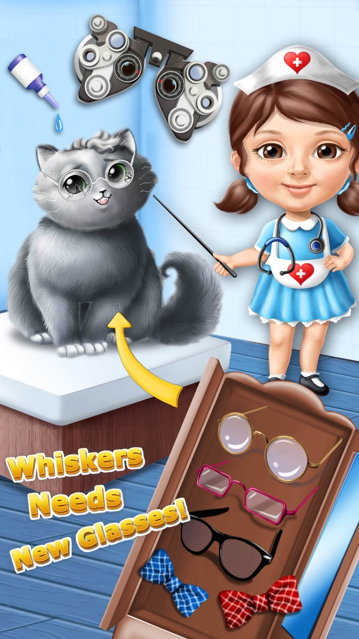Sweet Baby Girl Cat Shelter – Pet Vet Doctor Care Screenshot