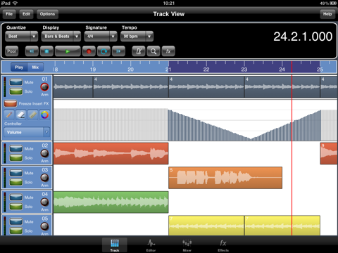 Screenshot #4 pour Meteor Multitrack Recorder