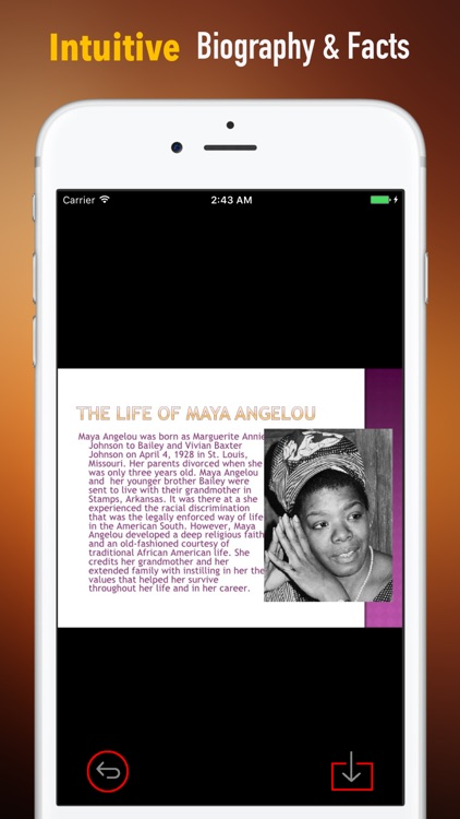 Biography and Quotes for Maya Angelou:Speech screenshot-0