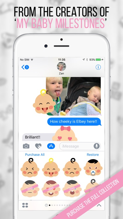 My BabyMoji - Baby Stickers Emoji Expressions screenshot-2