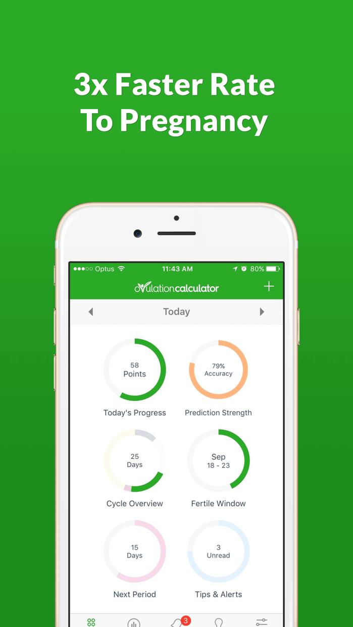 Ovulation Calculator Fertile Tracker & Calendar OC Screenshot