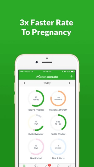 Ovulation Calculator Fertile Tracker & Calendar OC on the