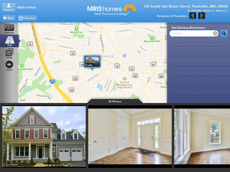 MRIS Homes for iPad
