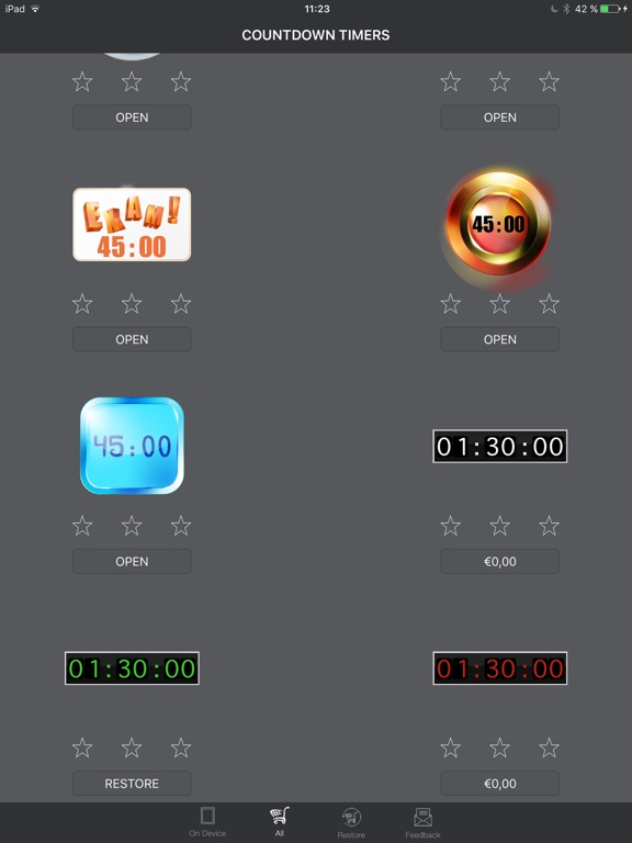 countdown timers for keynote app price drops