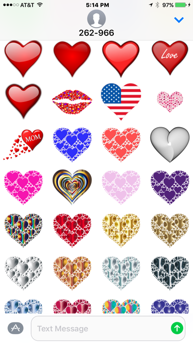 Hearts and Love Stickers screenshot one