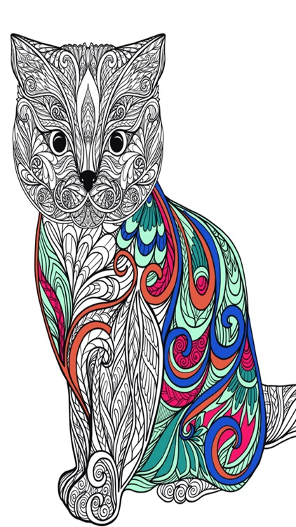 Cats mandalas coloring book for adults - Premium by Valenapps