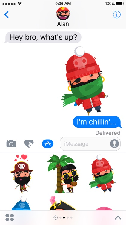 Pirate Kings Stickers for Apple iMessage screenshot-1