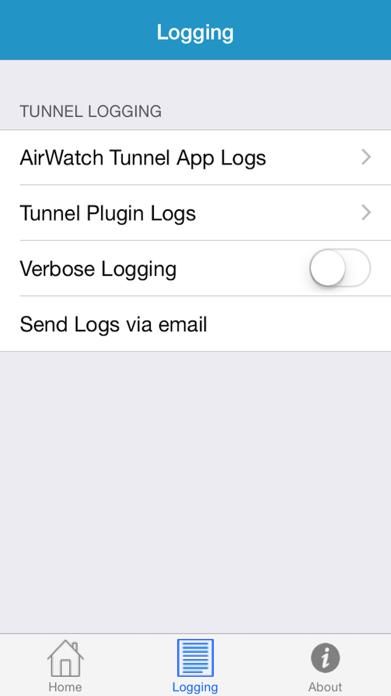 AirWatch Tunnel Screenshot