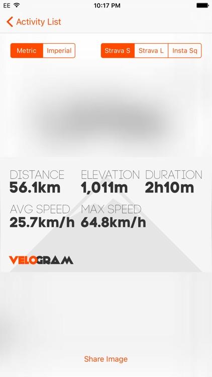 Velogram for Strava Cycling & Running screenshot-3
