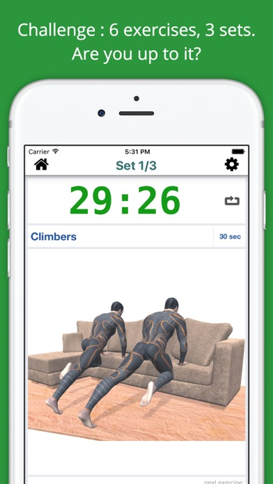Home Sofa Workout Challenge PRO - Lose Weight screenshot two