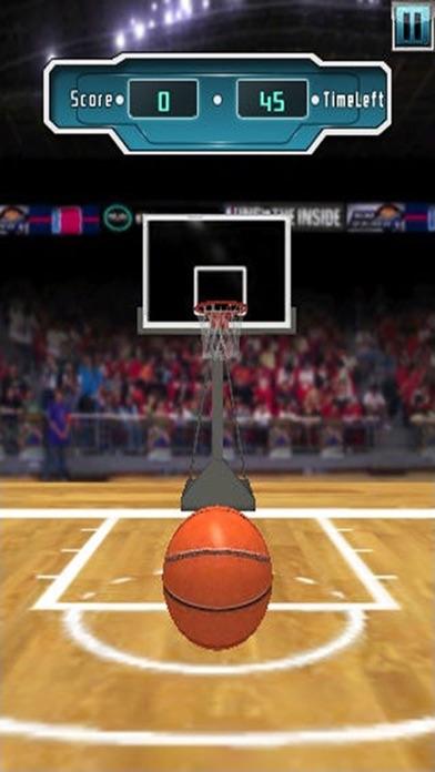 バスケットボールの3次元フリーバスケットボールシューティングゲームのおすすめ画像1