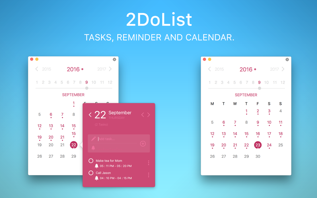 2DoList - Task, Reminder and Calendar