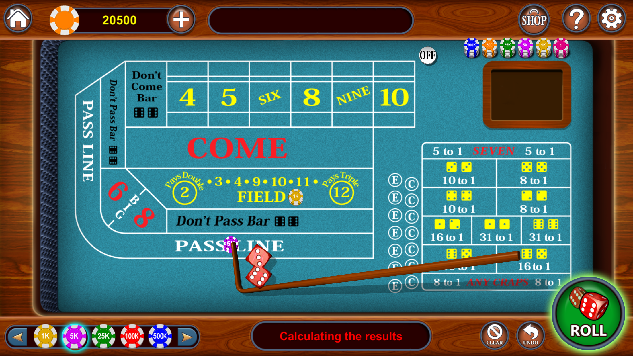 Craps - Vegas Casino Craps 3D Screenshot