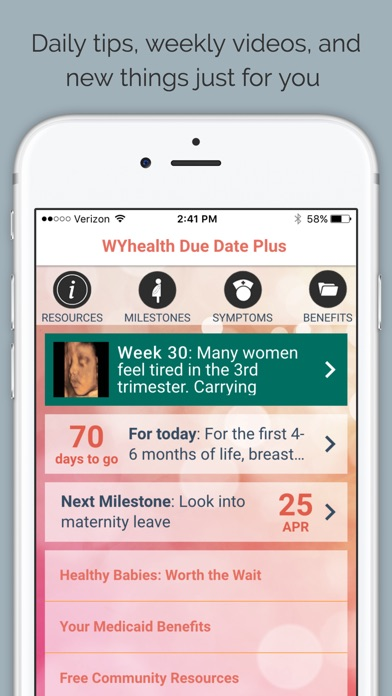 wyhealth due date plus pregnancy tracker by wildflower health ios united states searchman app data information