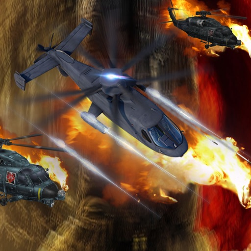 A Helicopter Driving Fast In Combat - A Helicopter Hypnotic X-treme Game icon