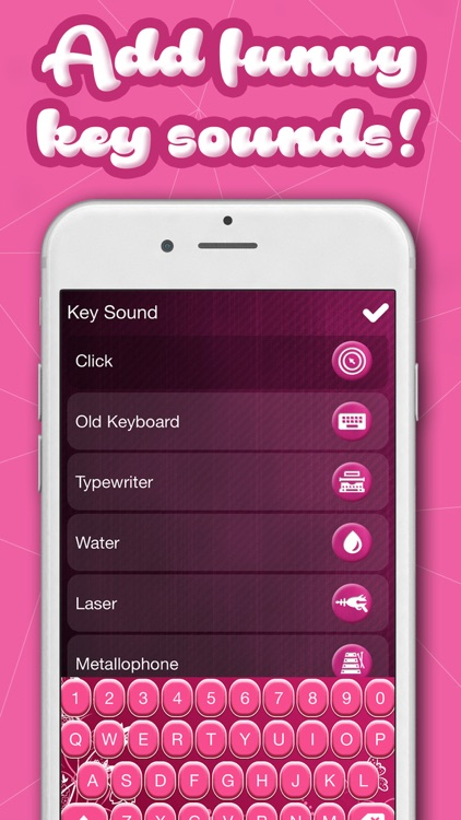 Girly Keyboards with Pink Background Theme & Emoji screenshot-4