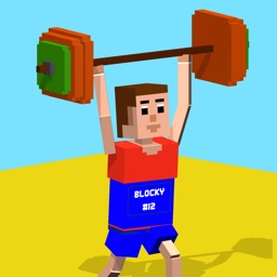 Blocky Olympics Weightlifting - Summer Games