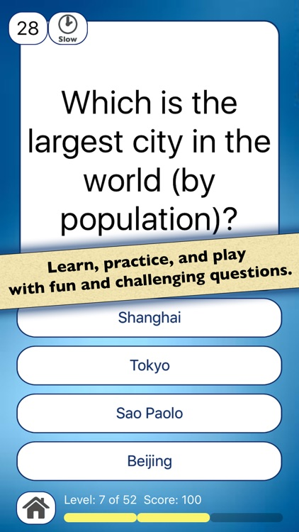 Geography Quiz Game: Geo Facts of The World
