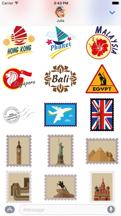 Travel Stickers – Holiday Greetings for iMessage screenshot-1