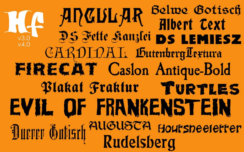 Halloween Fonts: Free Commercial Use Holiday Fonts скриншот программы 1