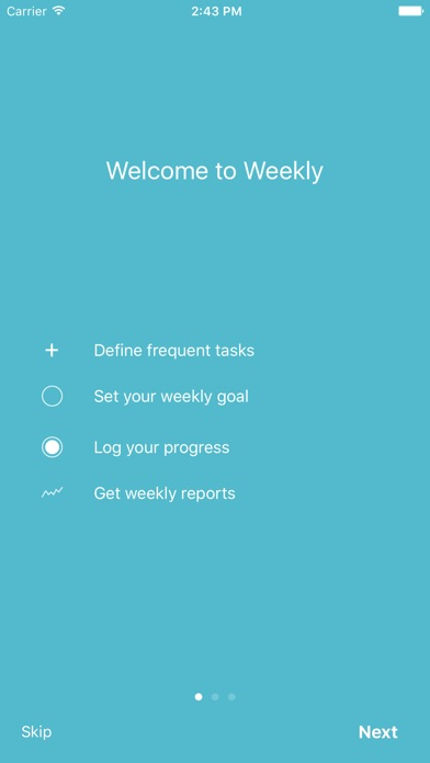 Weekly - Track frequent tasks Screenshot