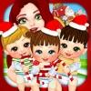 Mommy's Christmas Newborn Baby Salon - My Xmas Santa Makeover Doctor Games for Girls!