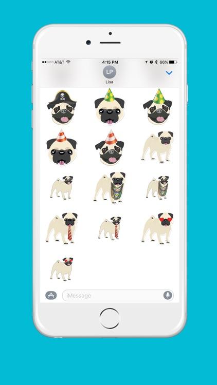 Pug Emoji screenshot-4