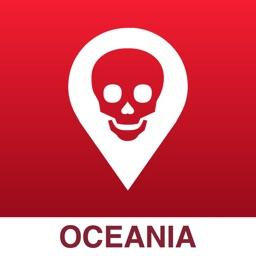 Poison Maps - Oceania & Surrounding Islands