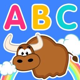 Cute Animal Alphabet (The Kids's English ABC, Yellow Duck Series)