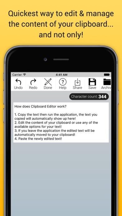 Clipboard Editor Lite Screenshot