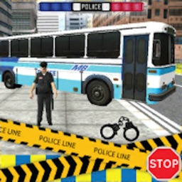 Police City Bus Staff Duty Simulator 2016 3D - London Anicent City Police Department Pick & Drop