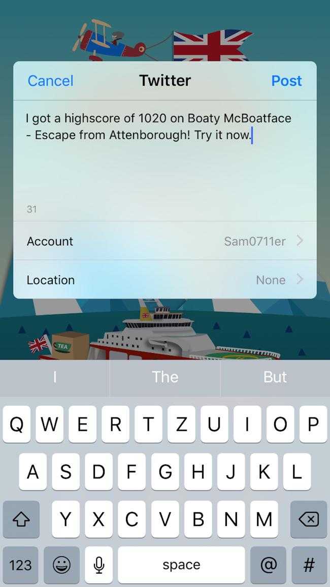 Boaty McBoatface - Escape From Attenborough Screenshot