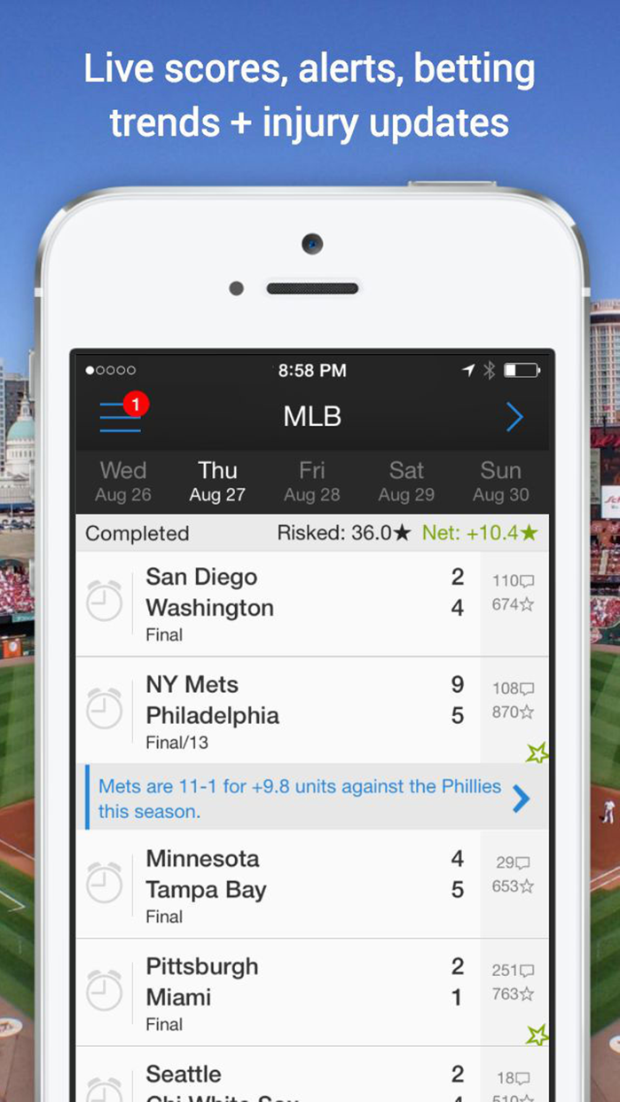 Onside Sports: Scores & Odds Screenshot