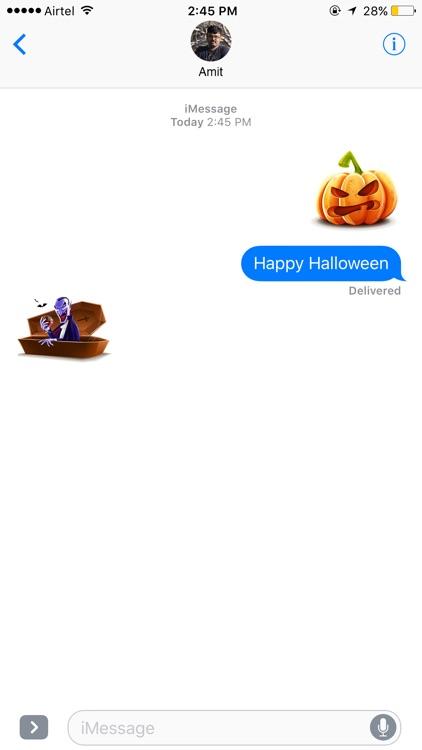 Halloween Stickers & Emoji.s Pack Booth for 2016 screenshot-3