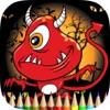ゴーストぬりえ無料ゲームHDは:、頭蓋骨や複数と、描画し、悪魔を着色することを学びます