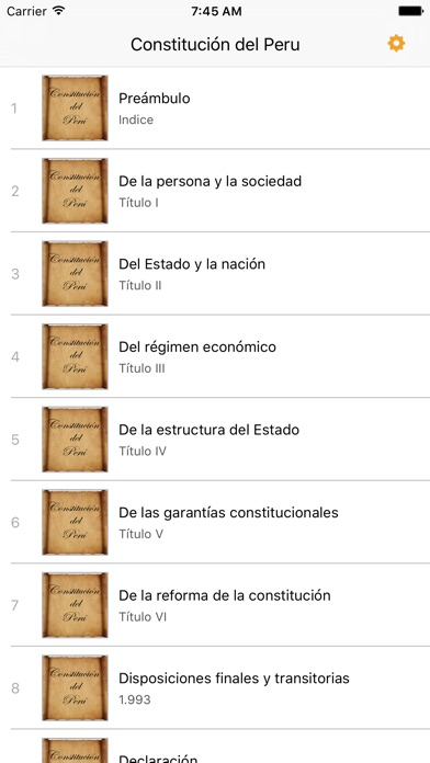 Screenshot for Constitución del Perú in Portugal App Store