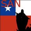 Santiago de チリ地図