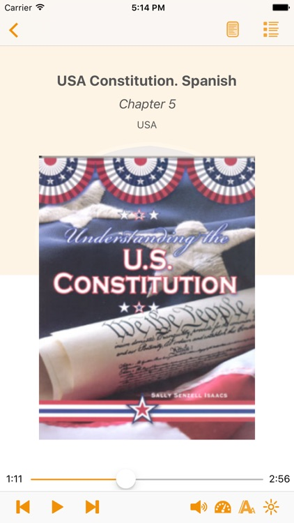 USA Constitution. Spanish Audiobook