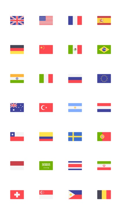 Country Flags Stickers Squared